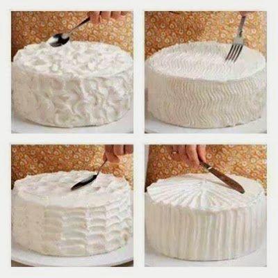 çatal bıçakla pasta süsleme