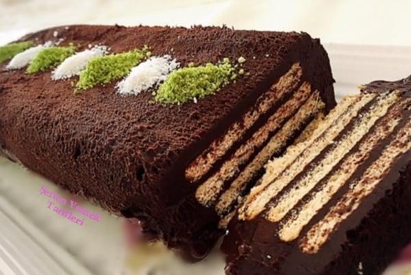 çikolatalı kitkat pasta nasılyapılır