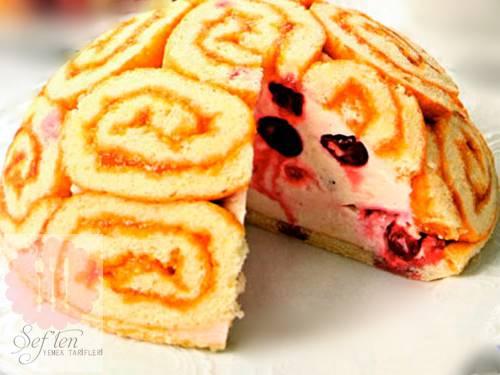 Hazır Rulo Pastadan Kümbet Pasta Yapılışı